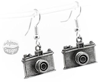 Earrings - Camera Dangle Drops