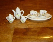1980's vintage miniature tea set  For doll house, collection, or display