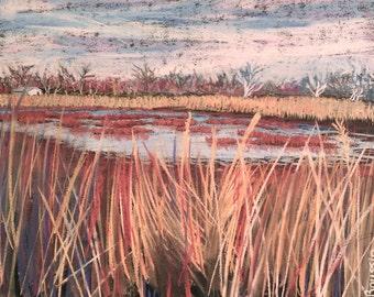 "Original Impressionist Painting ""Bellefontaine Meadows"" pastel art impressionism landscape painting"