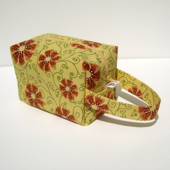Knitting Project Bags For Sale : Moving sale flowers zipper box knitting project bag from