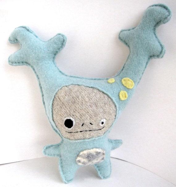 Baby Blue Strange Foo - Recycled Cashmere Plush Toy