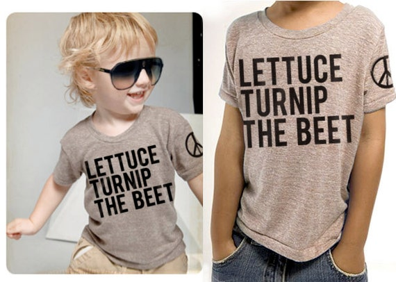lettuce turnip the beet - light brown eco-heather -  toddler size 4T