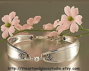 Silver Spoon Bracelet AMBASSADOR Jewelry Vintage, Silverware, Gift, Anniversary, Wedding, Birthday