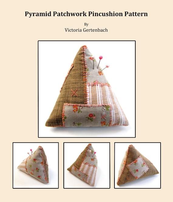Pincushion Pattern / Digital PDF Sewing Pattern / Patchwork Pattern / Triangular Pyramid Tetrahedron Pincushion Pattern
