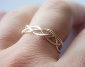 Adjustable Silver Braided Ring, Gifts under 20, bridal gifts