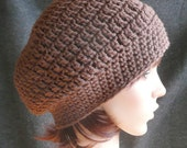 Slouchy Beanie in Chocolate Brown