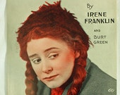 Vintage Sheet Music I'm A' Bringing Up The Family, 1909 Irene Franklin Red Head Song