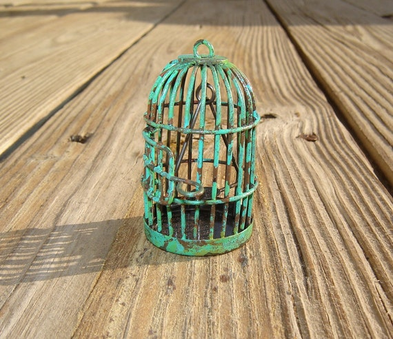 "Tiny Bird Cage - ""Faux Vintage"""