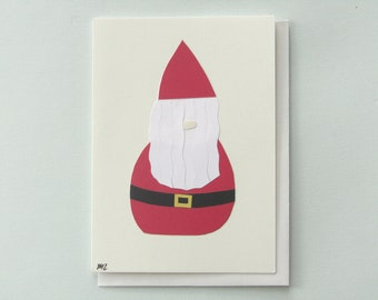 Happy Holidays from the Scandinavian troll - papercut collage card