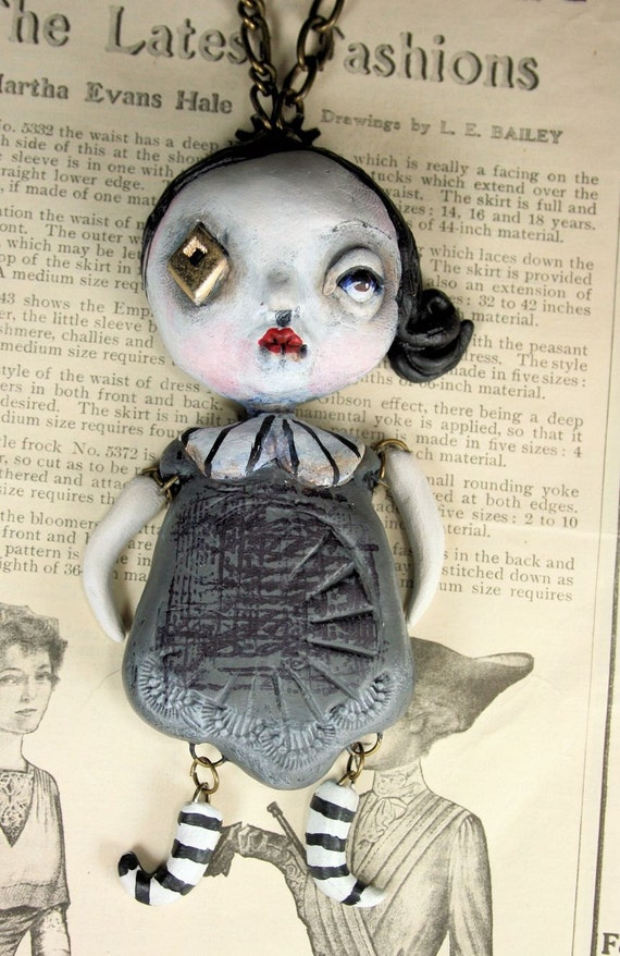 Original Steampunk Soul Art Doll Necklace