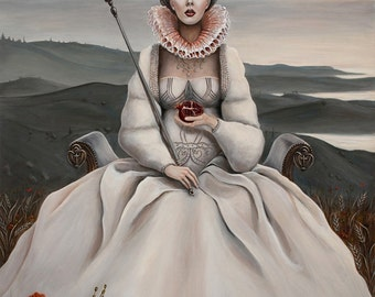 The Empress Limited Edition Print 13x19 by Cate Rangel Lowbrow Tarot
