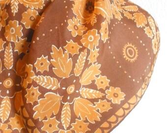 Cinnamon Mandala - a vintage 1970's Vera Neumann Op-Art Silk Scarf