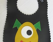 Monster Baby Bib - colors vary