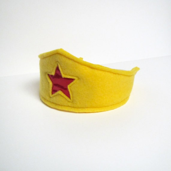 Super Hero Head Band - Yellow with Red Star