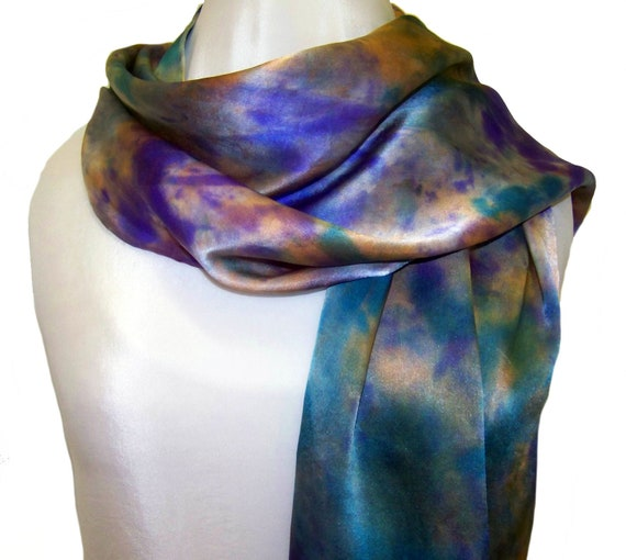 Silk Scarf  hand painted scarf, Marla