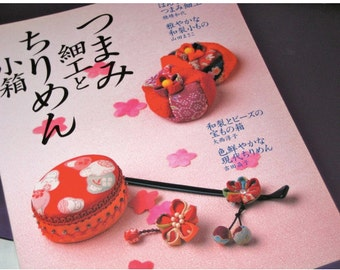 Japanese Craft Book Sewing Zakka with Japanese Silk Chirimen Fabric out of print