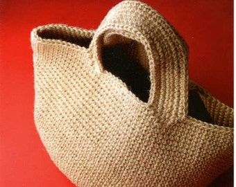 Eriko Aoki's Hemp Rope Crochet Bags - japanese craft book MM