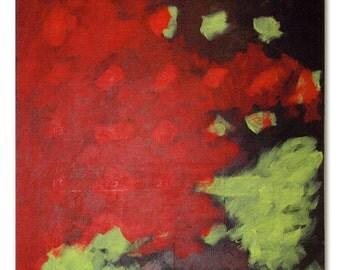 Firegarden - Retro modern abstract painting 36 x 36