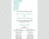 Antique Flourish Wedding Programs