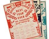 2013 Maple Veneer Wall Calendar