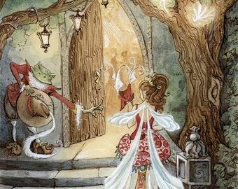 """Once Upon A TIme, A Fairy Ball 8.5x11"""" Print"""