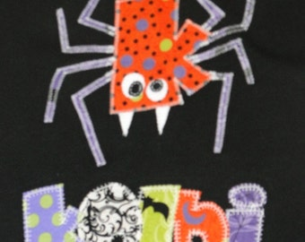 Personalized Spider Top with Glow in the Dark Stitching, Halloween Party, Insect Party, Glow in the Dark Party, Halloween Gift, Spider Gift
