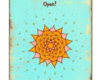 Open 5x7 Print (Blue)