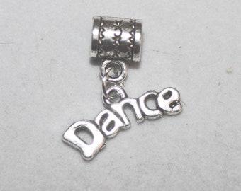 Silver Dance Lrg Hole Bead Fits All European Style Add a Bead Charm Bracelet Jewelry Pnd-G099