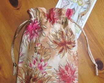 SALE Summer Dahlia's Padded Tarot Bag