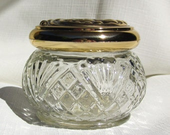 Antique Avon Jar (Clear606)