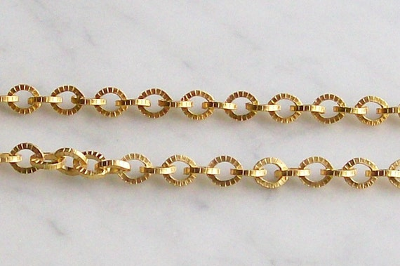 Chain Matte Gold Links Jewelry Supplies 17 Inch