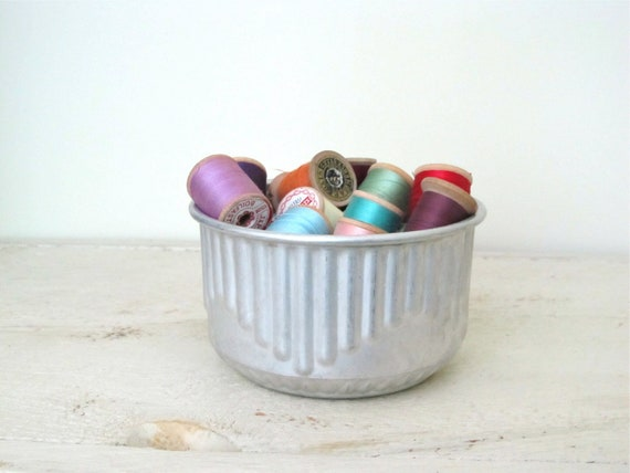 Vintage  Wood Thread Spools in Jelly Mold