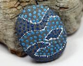 Hand painted Magnet, Alaska River Stone, Natural stone, Housewarming gift