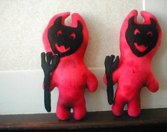 Li'l Devil Handmade Halloween little stuffed toy