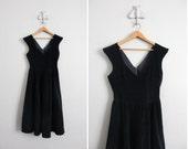 SALE - 1950s velvet dress / vintage velvet dress