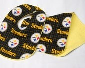 Bib and Burp Cloth Set, Baby Shower Gift, Welcome Baby Gift: Pittsburg Steelers NFL