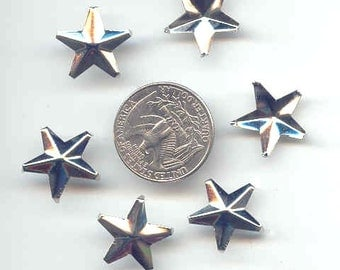 """50 Star Studs, 5/8"""" 16mm, 5 Prongs, Leather Crafting DIY Clothes Customize"""