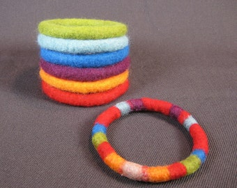 How to make wet felted bangle bracelets eBook tutorial pdf