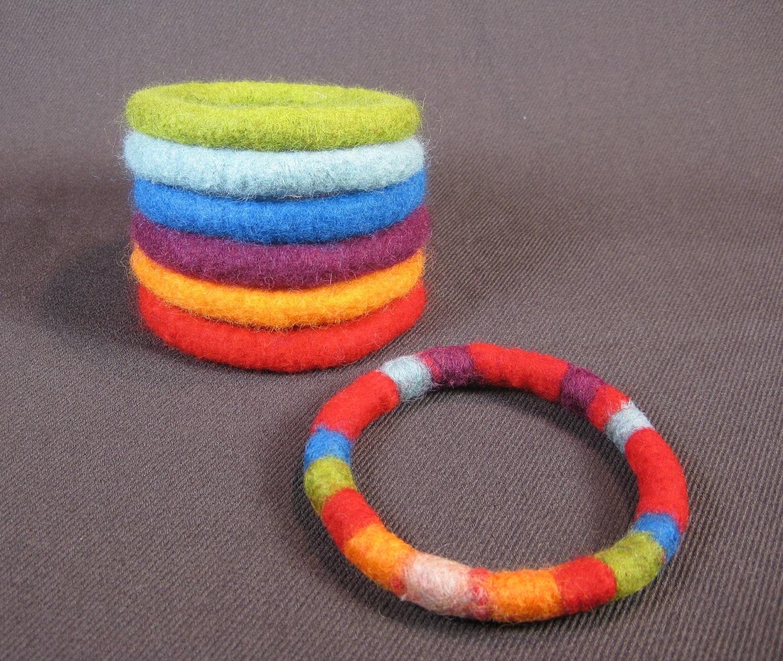 Felt bracelets 13
