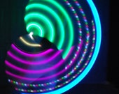 Lower Price- Ready to Ship- AA battery powered Infinity collapseable LED travel hula hoop- super bright, static and Dragofly strobe LEDs
