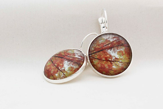 Autumn Branches Photography Earrings, Woodland Earrings