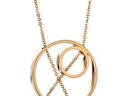 Inner Circle Necklace 102 in Rose Gold