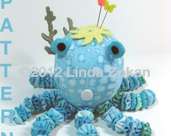 Pin cushion pattern for Olivia the Octopus