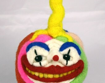 Needle Felted Clown Pumpkin