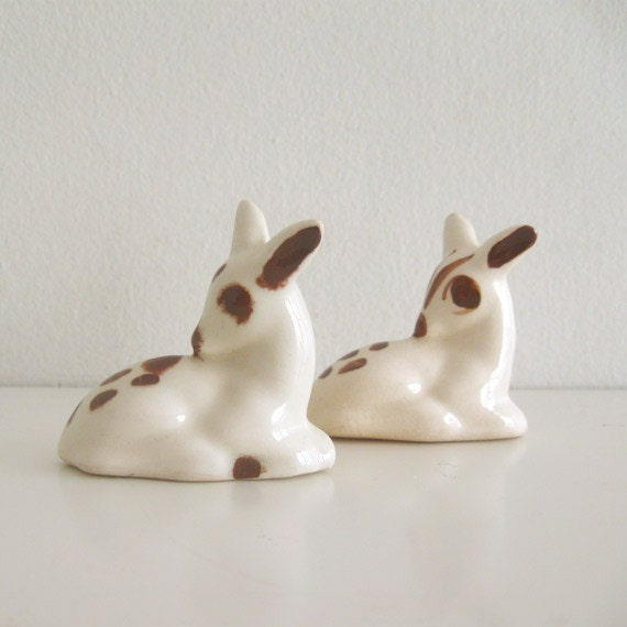 2 Vintage Figurines Rio Hondo Deer California Pottery