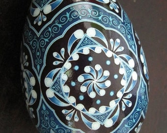 Made To Order: China Blues Pysanka Batik Egg Art EBSQ Plus