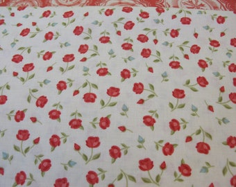 Odds Ends - From Moda - Vintage Floral - 1 Yard - 9.85