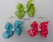 Set of 3, Initial Hair Bows, Girls Gift Idea, Monogram Infant, Monogrammed Toddler, Hairbow, Bows, Basic Boutique, Custom Letter, Easter