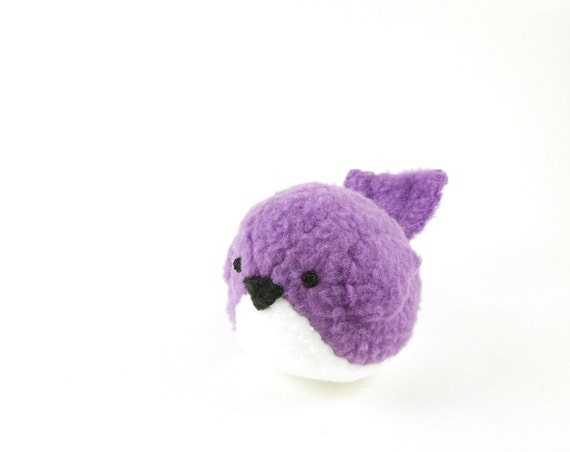 Purple Bird Stuffed Animal Kids Plush Toy