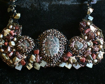 Earth Goddess Collar  Featured in the Treasury Lists:  Our Goddesses of Earth, Motherhood and Love and Aquamarine